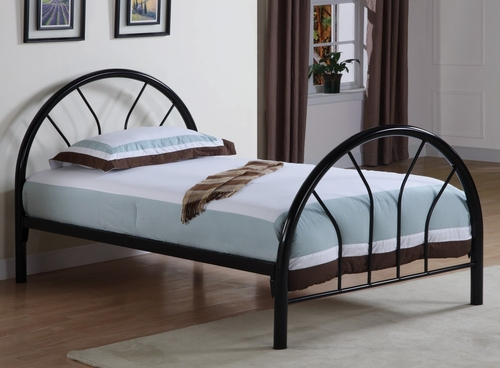Twin Size Bed in Black - Coaster - 2389B