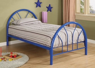 Twin Size Bed in Blue - Coaster - 2389N
