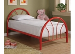 Twin Size Bed in Red - Coaster - 2389R
