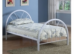 Twin Size Bed in White - Coaster - 2389W