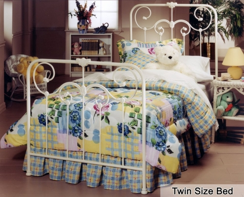Twin Size Bed - Lindsey Twin Size Metal Bed