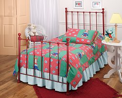 Twin Size Bed - Molly Twin Size Bed in Red - Hillsdale Furniture