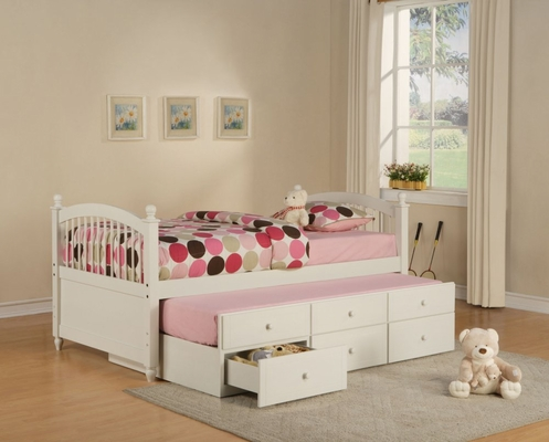 Twin Size Bed with Trundle - May - Powell Furniture - 270-038-TBED