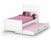 Twin Size Bed with Trundle - Tiara - South Shore Furniture - 3650A3-182