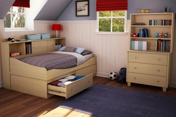 Twin Size Bedroom Furniture Set 71 in Maple - South Shore Furniture - 3613-BSET-71