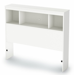 "Twin Size Bookcase Headboard (39"") in Pure white - Sparkling - South Shore Furniture - 3260098"