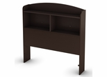 Twin Size Bookcase Headboard in Chocolate - Logik - South Shore Furniture - 3359098