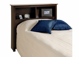 Twin Size Bookcase Headboard in Espresso - Prepac Furniture - ESH-4543