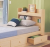 Twin Size Bookcase Headboard in Maple - My Space, My Place - New Visions by Lane - 728-435