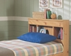 Twin Size Bookcase Headboard in Pine - Mountain Pine - New Visions by Lane - 497-435