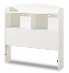 Twin Size Bookcase Headboard in Pure White - South Shore Furniture - 3360098
