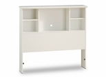 Twin Size Bookcase Headboard in Pure White - South Shore Furniture - 3660098