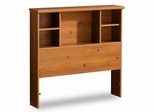 Twin Size Bookcase Headboard in Sunny Pine - South Shore Furniture - 3642098