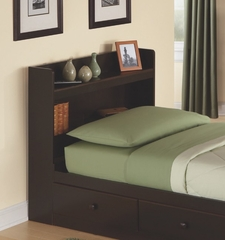 Twin Size Bookcase Headboard in Walnut - My Space, My Place - New Visions by Lane - 316-435
