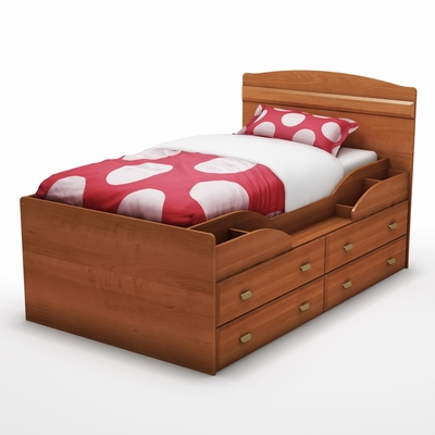 Twin Size Captain's Bed in Morgan Cherry - Imagine - South Shore Furniture - 3576214