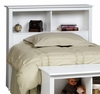 Twin Size Headboard in White - Monterey Collection - Prepac Furniture - WSH-4543