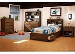 Twin Size Kids Bedroom Furniture Set 71 in Sumptuous Cherry - Willow - South Shore Furniture - 3356-BSET-71