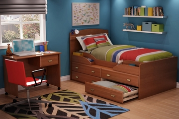 Twin Size Kids Bedroom Furniture Set 72 in Morgan Cherry - Imagine - South Shore Furniture - 3576-BSET-72