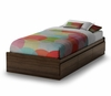 "Twin Size Mates Bed (39"") in Moka - Popular - South Shore Furniture - 2779212"