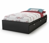 "Twin Size Mates Bed (39"") in Solid Black - Spark - South Shore Furniture - 3270080"