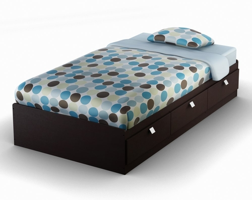 Twin Size Mates Bed in Chocolate - South Shore Furniture - 3259080
