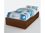 Twin Size Mates Bed in Sumptuous Cherry - Willow - South Shore Furniture - 3356212