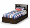 Twin Size Mates Bed with Headboard - Highway - South Shore Furniture - 3679212-098