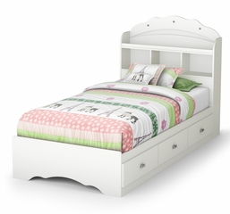 Twin Size Mates Bed with Headboard - Tiara - South Shore Furniture - 3650212-098