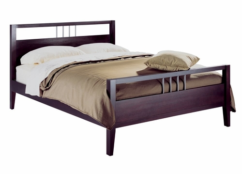 Twin Size Platform Bed - Nevis Espresso - Modus Furniture - NV23F3