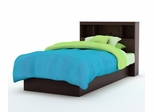 Twin Size Platform Bed with Headboard in Chocolate - South Shore Furniture - 3159-TBED-16