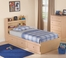 Twin Size Storage Bed with Headboard in Maple - My Space, My Place - New Visions by Lane - 728-301-435