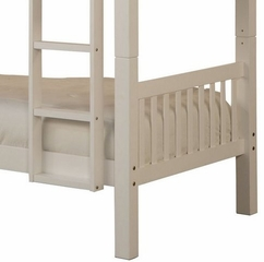 Twin/Twin Bunk Bed - White - Powell Furniture - 270-138