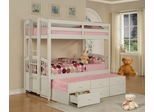 Twin/Twin Size Bunk Bed with Trundle - May - Powell Furniture - 270-037-BBED-2