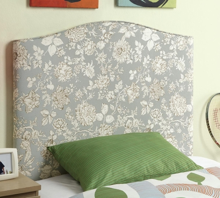 Twin Upholstered Headboard with Floral Pattern - 300384T