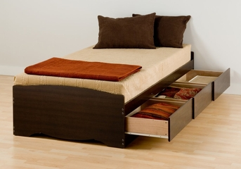 Twin XL Size Platform Storage Bed - Prepac Furniture - EBX-4105