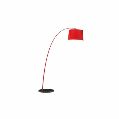 Twisty Red Floor Lamp - Zuo