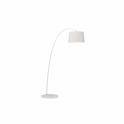 Twisty White Floor Lamp - Zuo