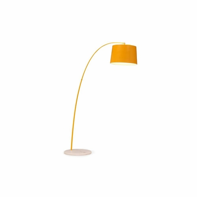 Twisty Yellow Floor Lamp - Zuo