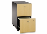 Two-Drawer File (Assembled) - Series A Beech Collection - Bush Office Furniture - WC14352SU