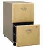 Two-Drawer File (Assembled) - Series A Light Oak Collection - Bush Office Furniture - WC64352SU