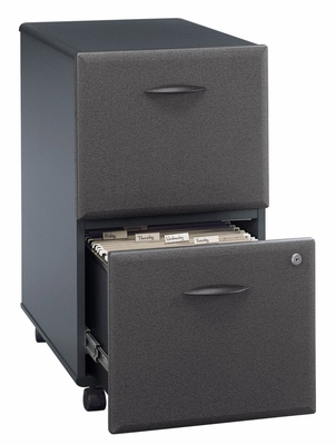 Two-Drawer File (Assembled) - Series A Slate Collection - Bush Office Furniture - WC84852SU