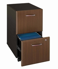 Two-Drawer File (Assembled) - Series A Walnut Collection - Bush Office Furniture - WC25552SU