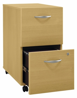 Two-Drawer File (Assembled) - Series C Light Oak Collection - Bush Office Furniture - WC60352SU
