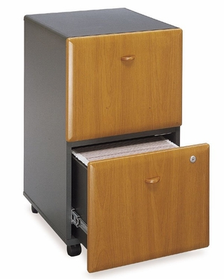 Two-Drawer File - Series A Natural Cherry Collection - Bush Office Furniture - WC57452