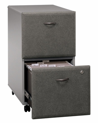 Two-Drawer File - Series A Pewter Collection - Bush Office Furniture - WC14552