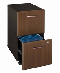 Two-Drawer File - Series A Walnut Collection - Bush Office Furniture - WC25552