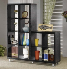 Two-Level Bookshelf in Black - Coaster
