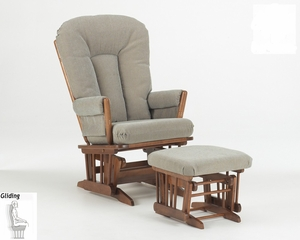 Two Post Glider and Ottoman Combo - Dutailier - C00-62B