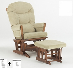 Two Post Multiposition Glider and Ottoman Combo - Dutailier - C01-82A
