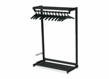 Two Shelf Garment Rack - 12 Hangers - Black - QRT20224